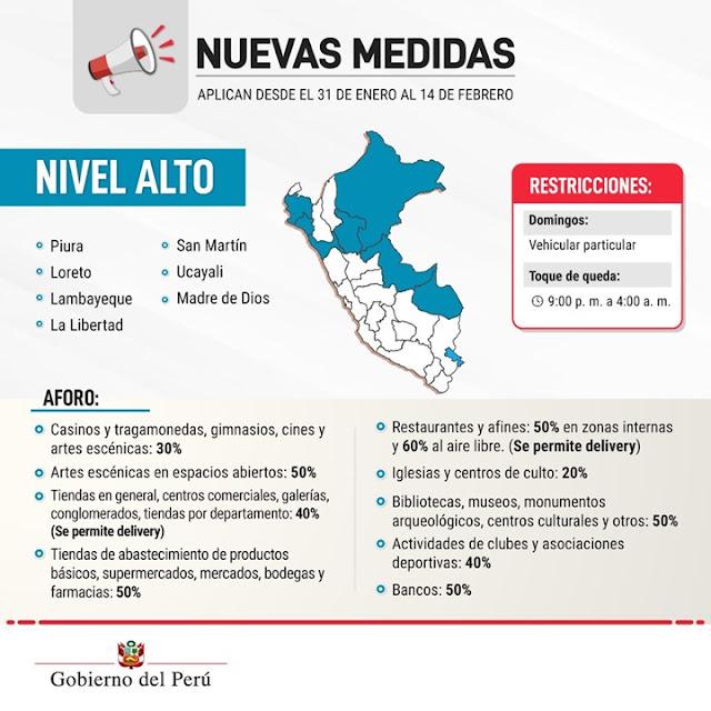 Perú retoma cuarentena total