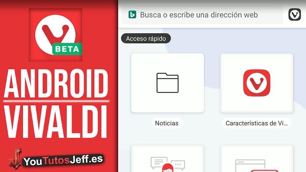 Rápido y Poderoso🔥💪Descargar Vivaldi para Android
