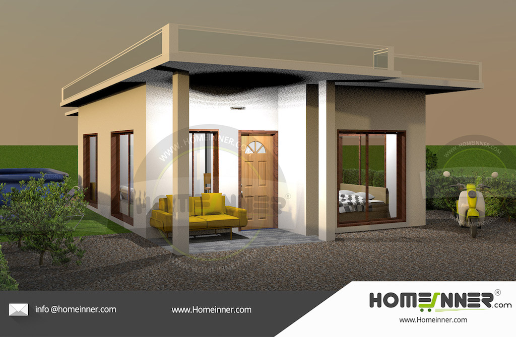 Low cost contemporary house in Kerala