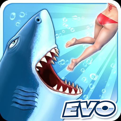 تحميل لعبة Hungry Shark Evolution مهكرة وكاملة للاندرويد نقود لا نهاية اخر اصدار