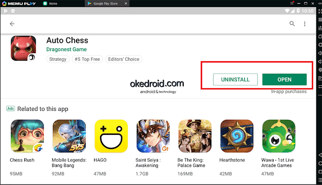 Open Buka Game Auto Chess Android Google Play Store Memu Player
