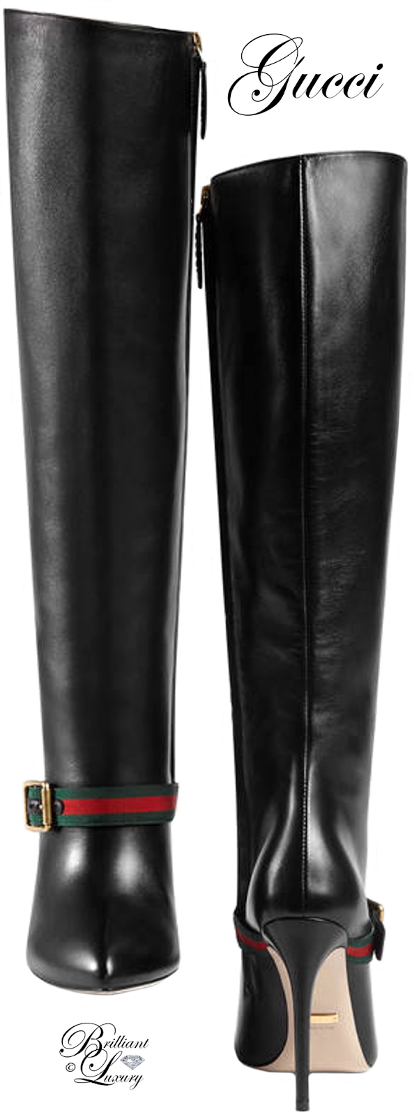 Brilliant Luxury ♦ Gucci Sylvie Leather Knee Boot
