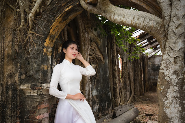 Ao Dai- Vietnamese traditional long silk gown