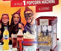 Logo Con Coca-Cola puoi vincere una Popcorn Machine
