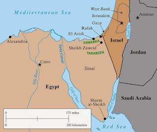 ouest d'Al-Arich