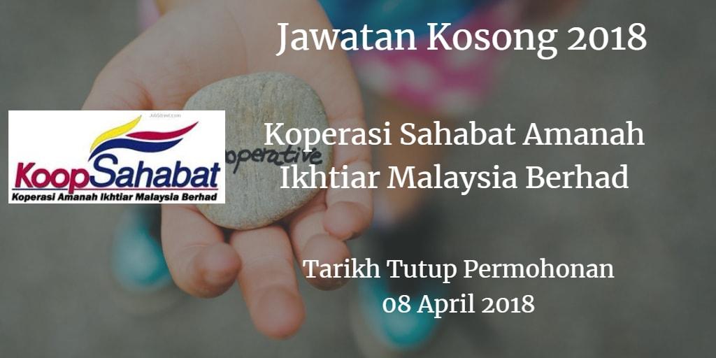 Jawatan Kosong Koperasi Sahabat Amanah Ikhtiar Malaysia Berhad 08 April 2018