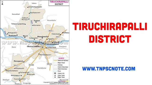 Tiruchchirappalli District Information, Boundaries and History from Shankar IAS Academy