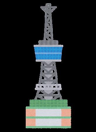 別府タワーのイラスト
