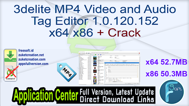 3delite MP4 Video and Audio Tag Editor 1.0.120.152 x64 x86 + Crack