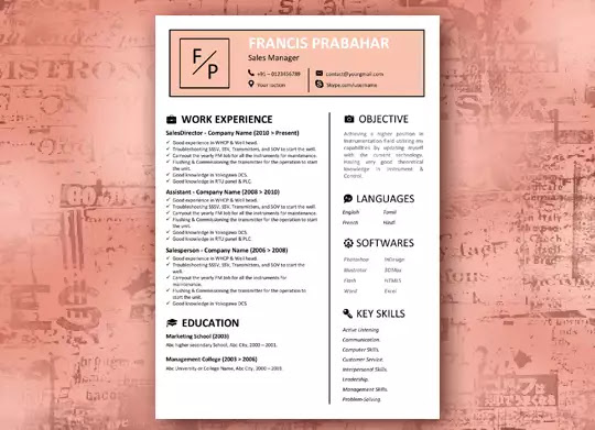 Skin Tone - The Best Resume Template