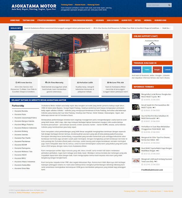 Download Gratis Website Company Profile Asokatama Motor Padang Responsive