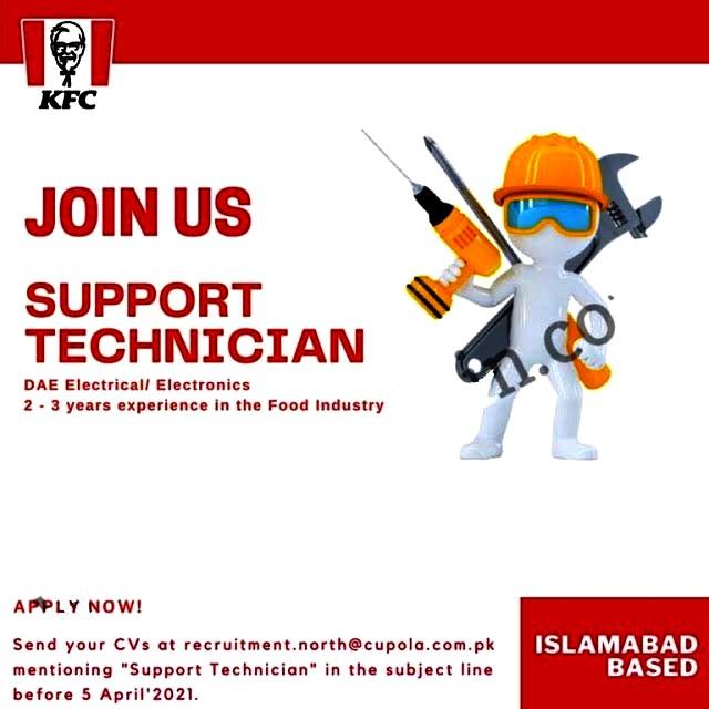 Latest Jobs in KFC Pakistan 2021