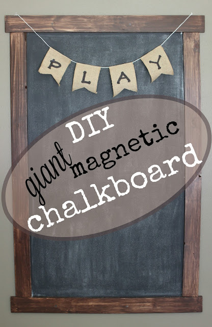 DIY Giant Magnetic Framed Chalkboard