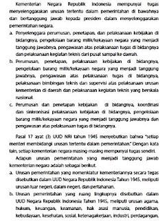 Tugas – Tugas Kementrian Indonesia Dalam Sistem Presidensial