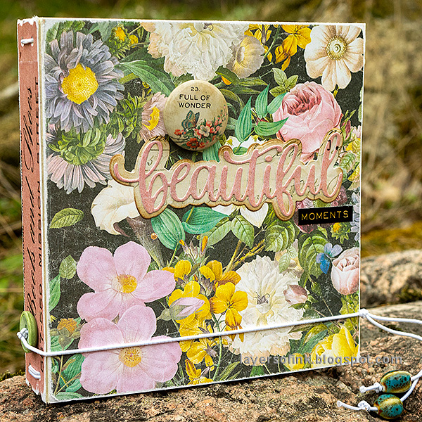 Layers of ink - Floral Folio DIY Notebook Tutorial by Anna-Karin Evaldsson.