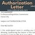 PRC Authorization Letter - Sample doc