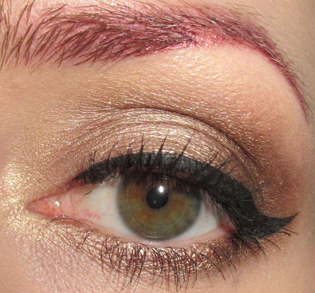 Glitter Is My Crack Golden Neutral Eye Makeup Look W Red Lips