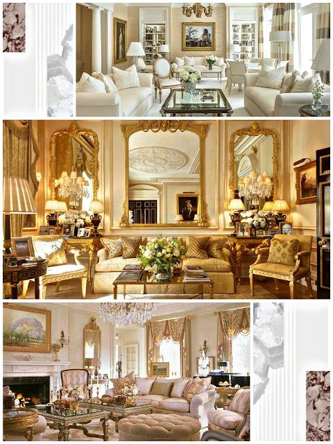 decoración de salones estilo francés elegante