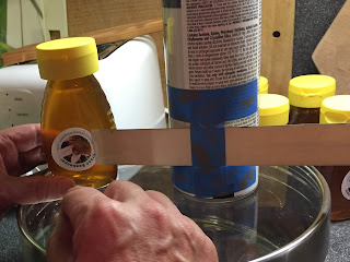 bee, beekeeping, bottler, ergonomic, honey, pail perch, white foam, honey label,