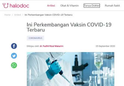 artikel website halodoc terpercaya