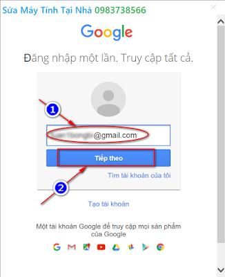 Cài đặt Gmail trong Outlook 2019