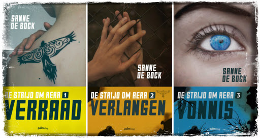 Verraad, Verlangen en Vonnis vormen de trilogie De strijd om Area, geschreven door Sanne de Bock en uitgegeven door Palmslag.