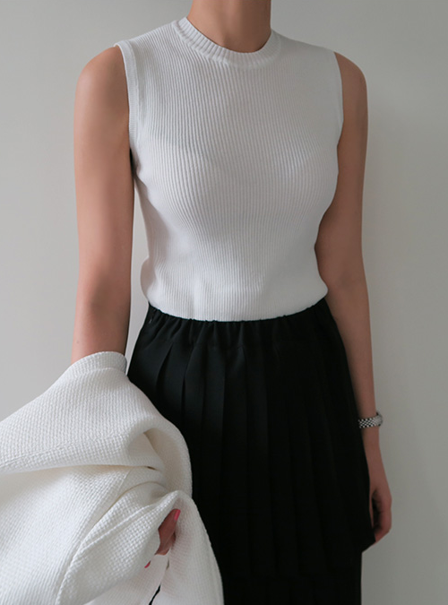 Ribbed Sleeveless Top