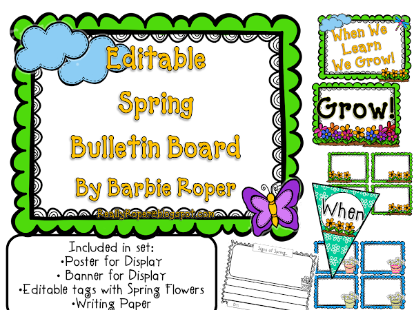 Spring Bulletin Board Set