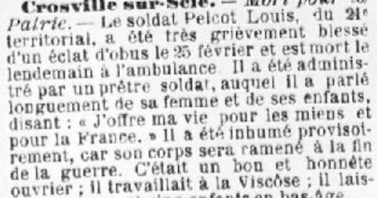 Louis Frédéric Pelcot : un poilu mort pour la France