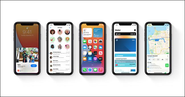 خمسة أجهزة آبل آيفون تعمل بنظام iOS 14