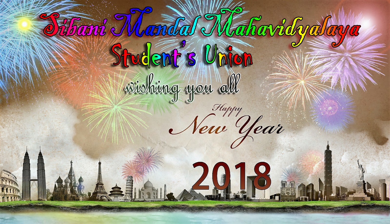 sibani mandal mahavidyalaya student union wishing you a very happy new year 2018 in advance