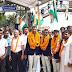 गाजीपुर: तीरंदाजों का जमानियां रेलवे स्टेशन पर गर्मजोशी से किया गया स्वागत