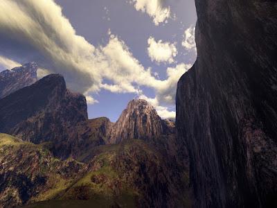 creación de montañas