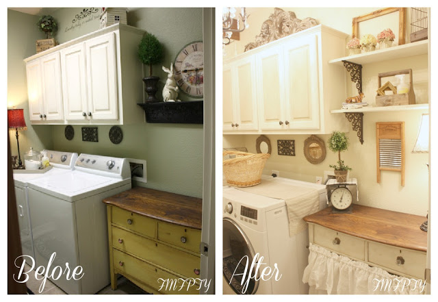 Farmhouse Laundry Room-French Farmhouse-From My Front Porch To Yours