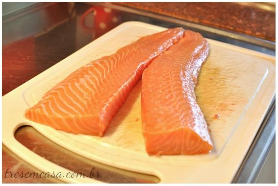 sashimi de salmão como cortar