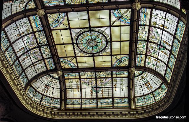 Cinelândia, Rio de Janeiro, vitral da Biblioteca Nacional