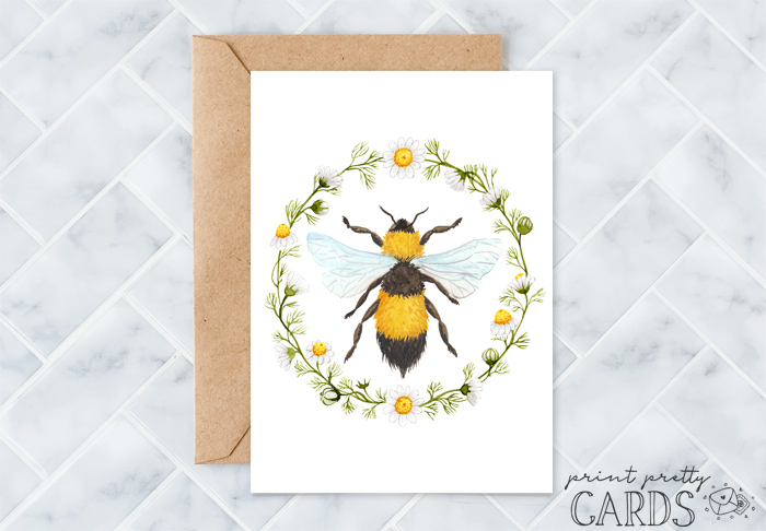Free Printable Bee Cards