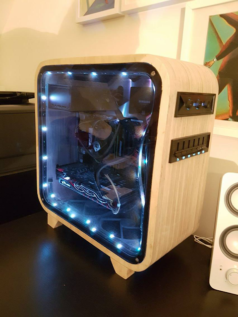DIY Custom Built Wooden PC - designed and handcrafted by @kibort [Imgur / Reddit]