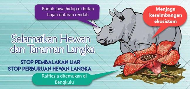 Poster Selamtkan Hewan dan Tumbuhan