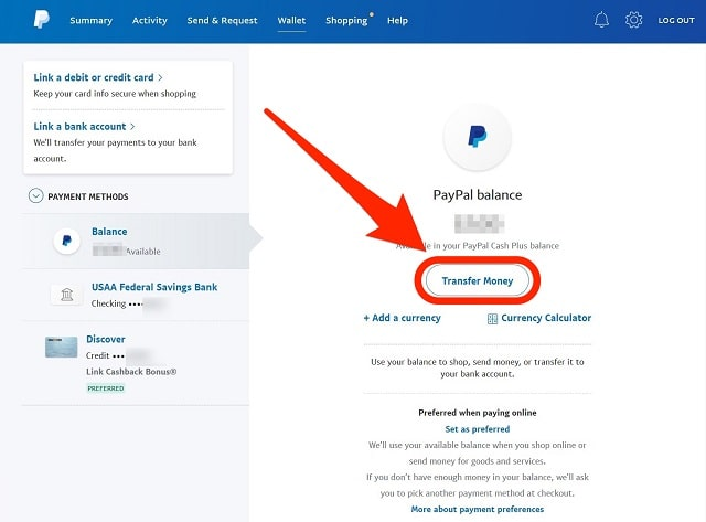 how to transfer money with paypal