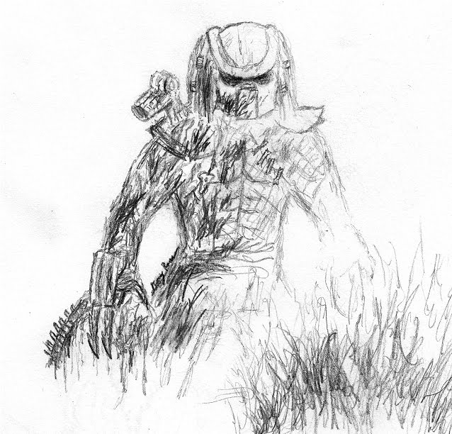 aliens in the attic coloring pages | The Sky Has Fallen: New Predator Drawings