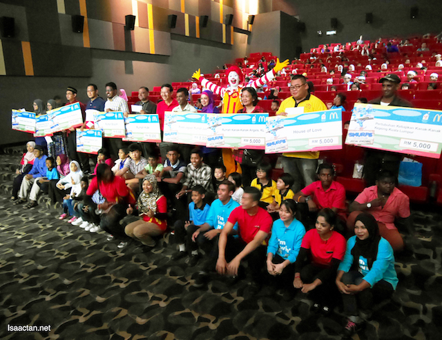 All 10 homes and orphanages were presented with cheques by RMHC