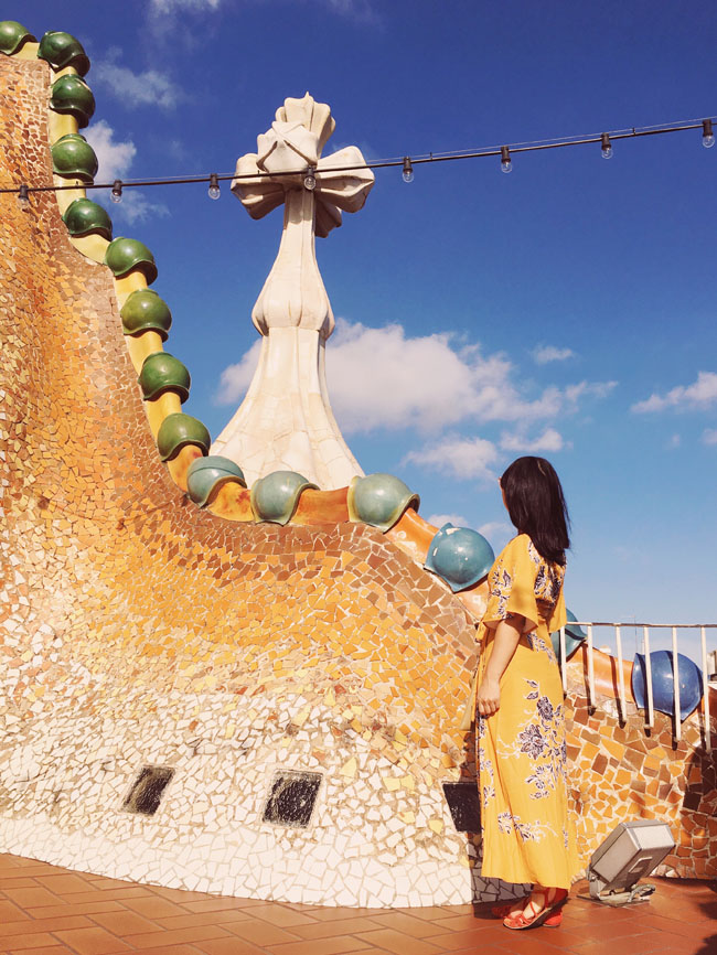 Barcelona in 3 days - Barcelona travel guide - Casa Batllo rooftop - Gaudi