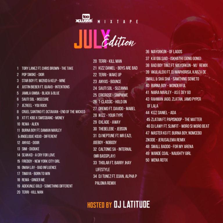 "DJ Latitude – ""Tooxclusive Mixtape July Edition"" #Arewapublisize"