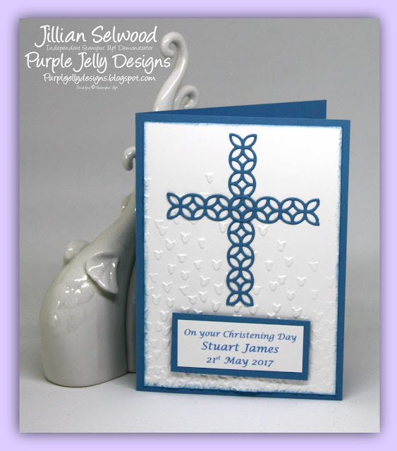 Flourish Thinlet Dies, Marina Mist, Christening Card