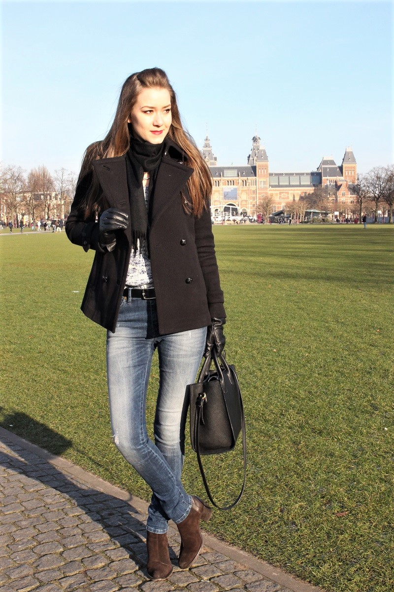 fblogger, bblogger, black coat, casual outfit