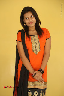 Telugu Actress Chandana Stills in Salwar Kameez at Karam Dosa Movie Press Meet  0032.JPG