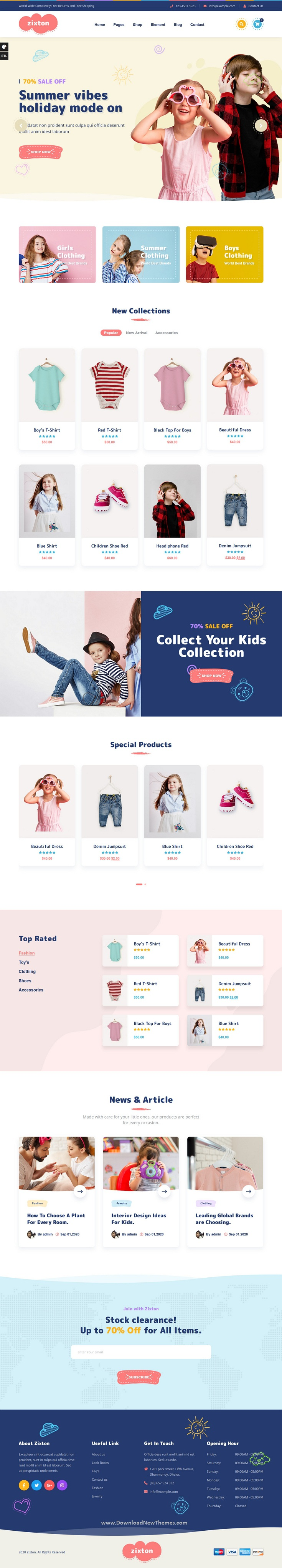 Baby Fashion WooCommerce Theme