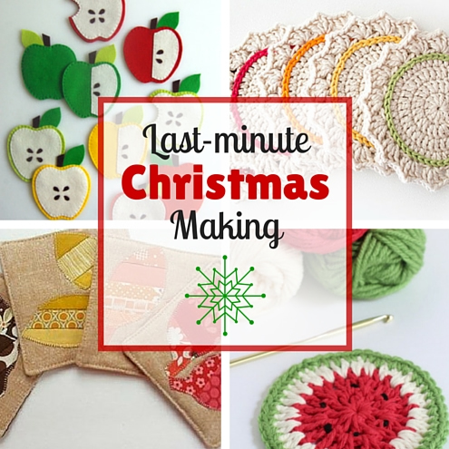 Quick and pretty last-minute Christmas gift: 10 crochet & sewing coaster patterns | Happy in Red