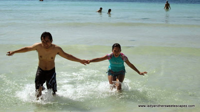 running at Alona Tropical Beach Resort Bohol